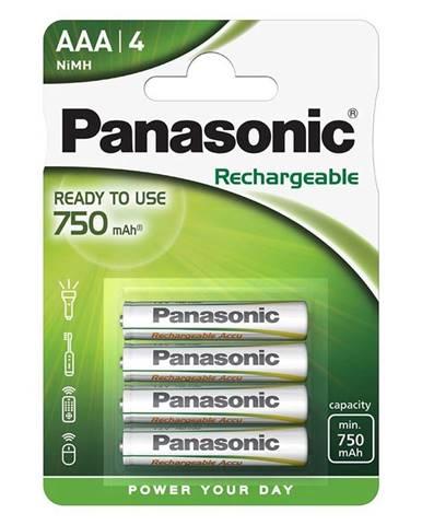 Batéria nabíjacie Panasonic Evolta AAA, 750 mAh, Ni-MH, blistr 4ks