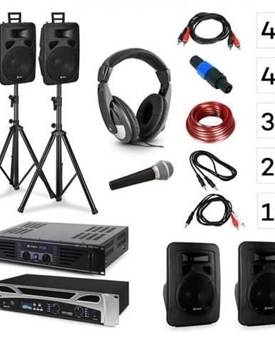 Vonyx Lisbon, DJ systém – sada, PA zosilňovač, PA reproduktor, DJ slúchadlá, mikrofón